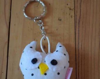 Small fabric OWL keychain