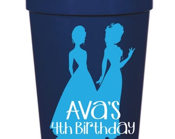 Frozen Birthday Party Favor- 16 oz. Reusable Plastic Stadium Cup- Minimum Purchase of 12 Cups!