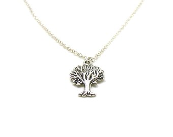Silver Tree Of Life Necklace, Tree Of Life, Charm Necklace, Charm Jewelry, Ancestry Charm, Family Tree Necklace, Tree Of Life Pendant