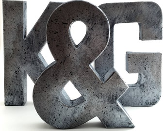 Faux Metal Letters | Zinc, Metal, Farmhouse, Antique, Vintage, Industrial, Decorative, Rustic, Decor, Modern, Modern Farmhouse, Shabby Chic