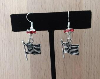 American flag earrings
