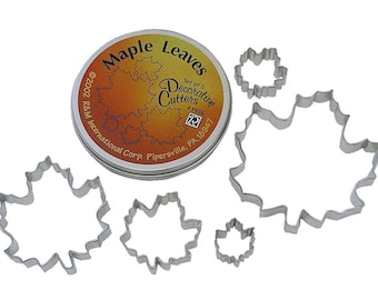 Maple Leaf Cookie Cutters - Set of 5 - 1936