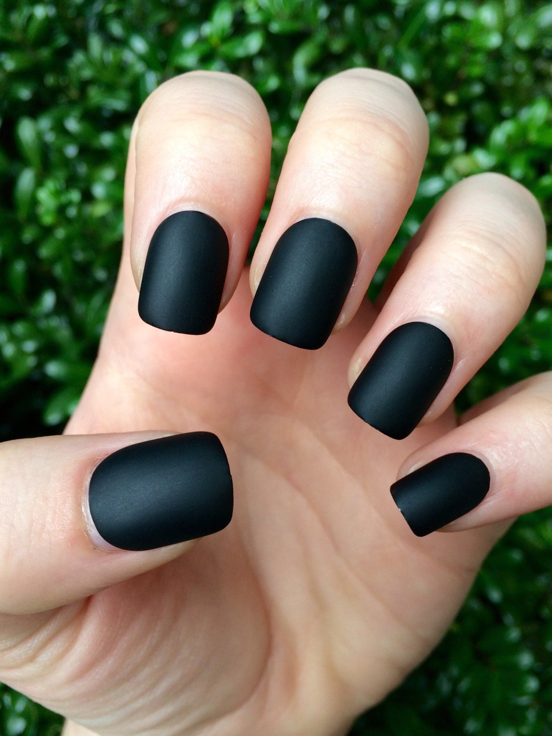 Black matte nails matte nails black matte fake nails