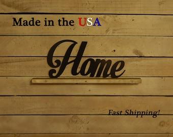 Home Metal Sign, Art, Family Decor, Housewarming Gift, Livingroom Decor, Indoor/Outdoor Wall Art, Kitchen Decor, Metal Sign, Home, W1079