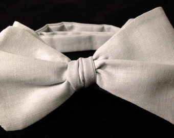 Freestyle Bow Tie Soft Grey