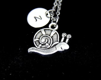 Silver Snail Charm Necklace, Snail Charm, Animal Charm, Insect Charm, Sea Snail Charm, Natural Gift, Personalized Gift Best Friend Gift N238