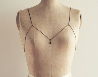 Sabina Sweet Heart Shoulder Necklace Chain Bra Body Chain Festival Style