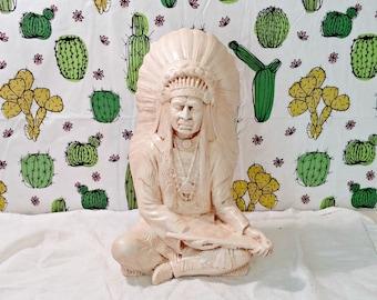 Vintage Ceramic Indian Chief