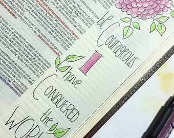 Bible Journaling Printable Template Set of 5 Designs New Testament only -Template G