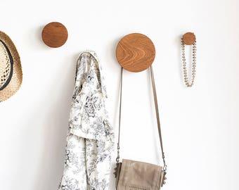 Coat hooks - wall hooks - entryway hooks - modern coat hooks - round hooks - wood wall hooks - hooks wood - coat rack - coat hanger