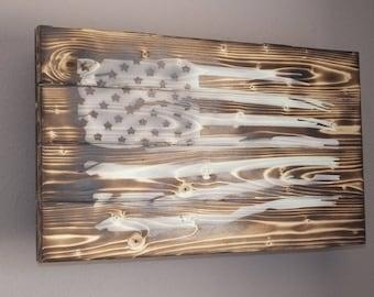 USA Flag with secret storage, Reclaimed wood, USA flag, Wood decor, Hidden storage