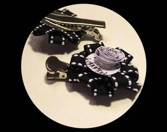 Music flower hair clip