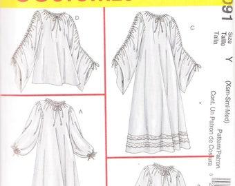 McCall's 4091 Misses' Chemises Costume Pattern, XS-M