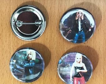 Buffy the Vampire Slayer Seasons 1-3 Hair 1.25' Button Pack
