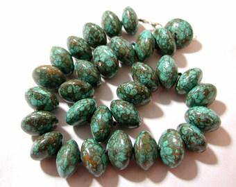 Large Chunky Mosaic Turquoise Necklace.