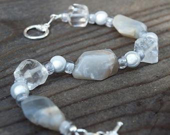 Labradorite Miracle Quartz Bracelet