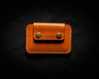 Minimalist wallet / Front pocket wallet / Slim wallet / Snap wallet / Leather Card holder / Handmade wallet / PERSONALIZED