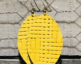 Mustard Yellow Earrings