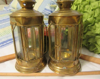 Lantern Brass Tealight Unique Vintage Made in India Outdoor Lighting Great Gift Idea Porch Lighting Home Decor Country Decor Primitive Decor