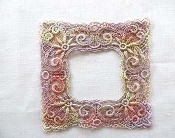 Frame Applique Hand-dyed Venise Lace 6035D