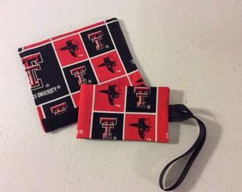Texas Tech Luggage Tag and Handle Wrap Set//Bag Tag Set/ID Tag