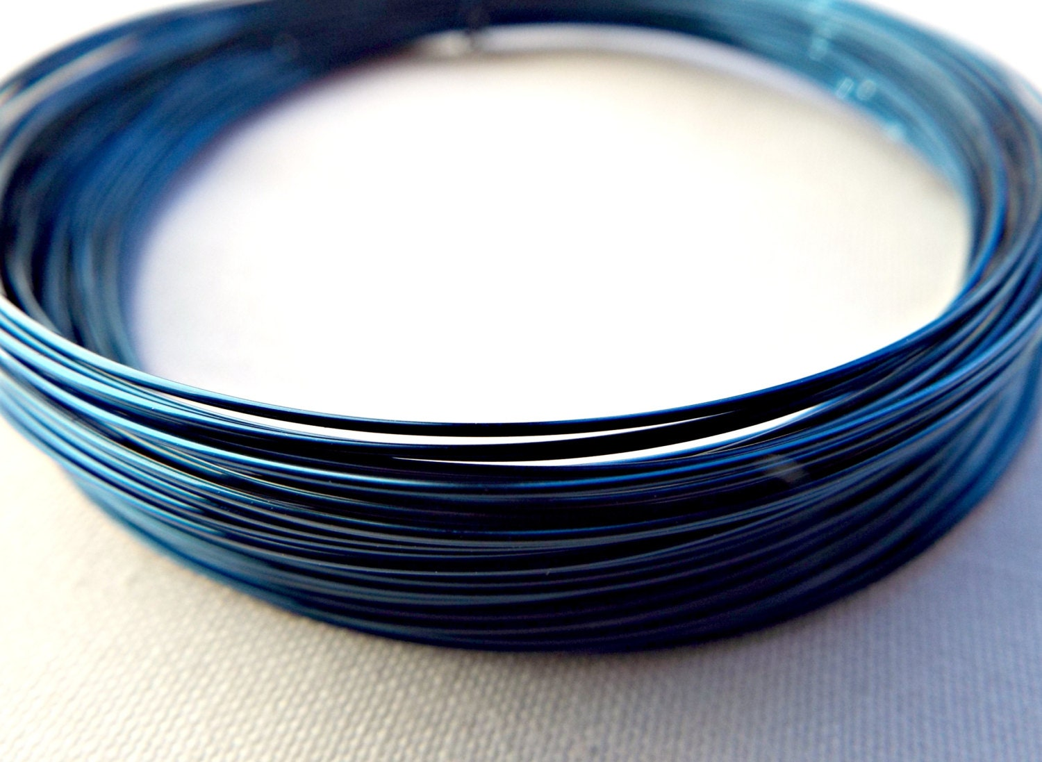 Blue Copper Wire, 24 Gauge Blue Wire, Wire Wrapping, Jewelry ...