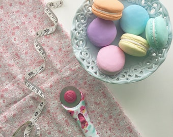 6 x 60g Pastel Macaron Pattern Weights - Extra Heavy | Great Sewing Gift for Birthdays | Handmade with Polymer Clay by Oh Sew Quaint |