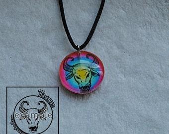 Taurus Zodiac Pendant Necklace