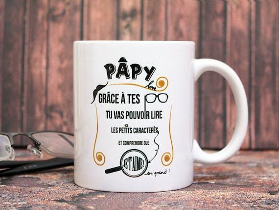 Complet Mug Papy. Tasse personnalisable. Cadeau pour PO77