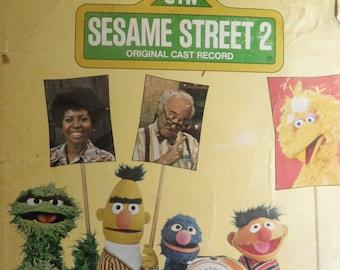 vintage vinyl album Sesame Street 2 Original Cast Record 1970 Bert Ernie Cookie Monster SING! Oscar the Grouch Song I'm Pretty