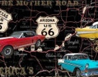 """American Dream, Cars, Blank Textile 45"""" wide"""