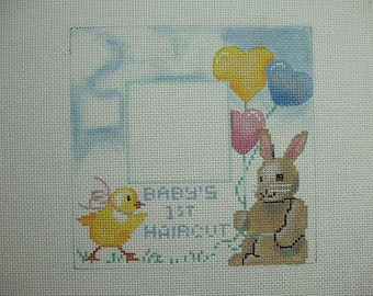 Baby's First Haircut Needlepoint Canvas*