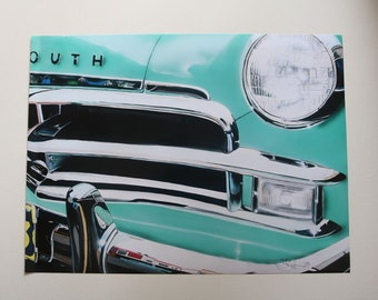 """Poster Print 1950 Plymouth Deluxe Size 18"""" x 24"""" by Teresa Griffin"""