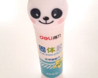 Kawai glue stick, panda.