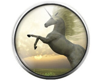 Unicorn - 18MM Glass Dome Candy Snap Charm GD0293