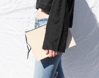 The Evie Leather Oversized Clutch