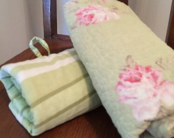 ON SALE, SPRING Sale Clearence Shams, Pillow Shams, Flower Pillow Shams, Green Shams, Green Pillow Shams, Set of 2 Shams
