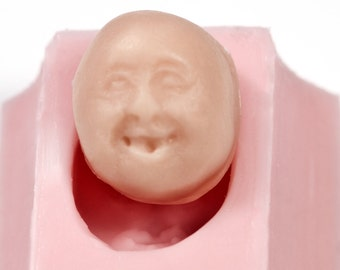 Silicone Mold - Face - Food Grade use with Fondant, Gum Paste, Candy, Chocolate (530)