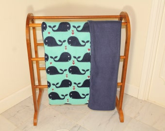 I Love You Whale-y Much Baby Blanket