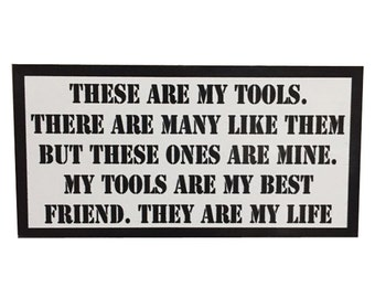 These are my Tools Rifleman's Creed Tool Box Sticker by Seven 13 Productions Full Metal Jacket USMC