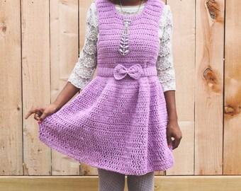 The Lavender Note Crochet Dress Pattern. Instant Download. Crochet Pattern.