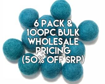 Single Color Pack - EMERALD Felt Balls