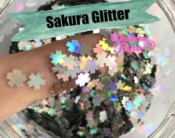 Sakura Flower Loose glitters 5mm UV resin, nail gel, acrylic nail, nail polish glitter, nail stamping