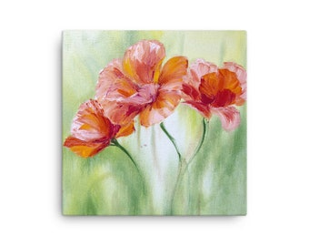 Poppies In The Morning Painting Modern Art Painting Canvas Special