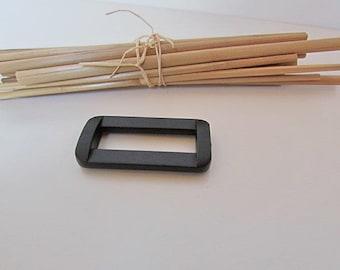 Passing loop, 10 loop through strap 15mm, 25mm, 30mm, 50 mm - Plastic black