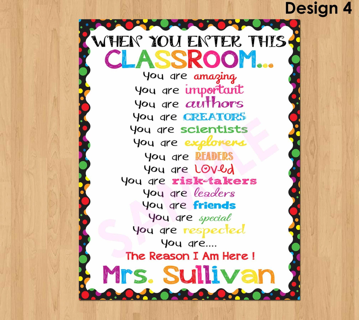 Personalized teacher sign when you enter this classroom sign zoom pronofoot35fo Gallery
