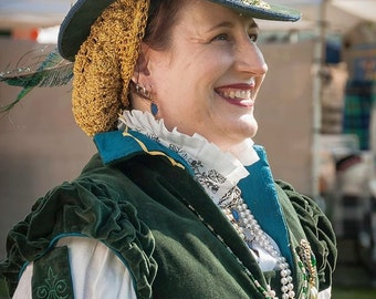 Renaissance Dress, Tudor, Elizabethan, Doublet, Gown (Made To Order) -  LAY AWAY AVAILABLE