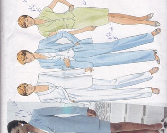 Butterick 4503 Vintage Pattern Womens  Fitted Jacket, Princess Seam Top, Tapered Skirt,and Pants Size 6,8,10 UNCUT