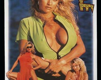 1998 Sable Wrestler Poster World Wrestling Federation WWF Marvel Comics Licensed Titan Sports Inc.