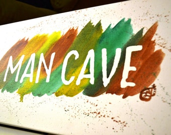 Man Cave Acrylic Painting 10x20